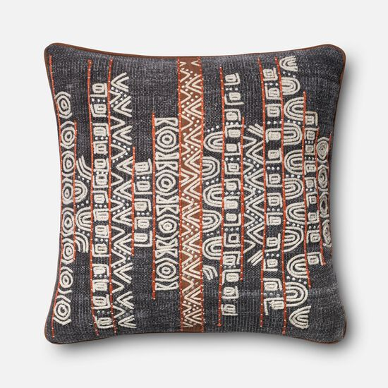 "22""x22"" Pillow Cover Only in Blue/Rust"