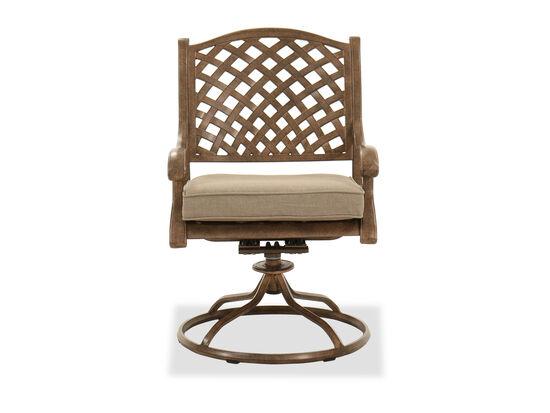 Aluminum Swivel Rocker Chair in Brown
