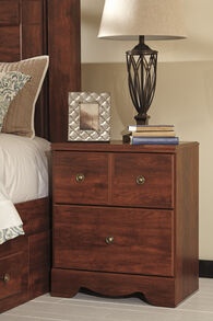 "29"" Contemporary Nightstand in Reddish Brown"