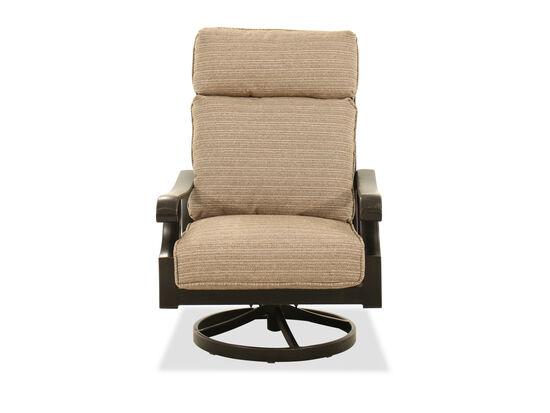 Aluminum Swivel Chair in Brown