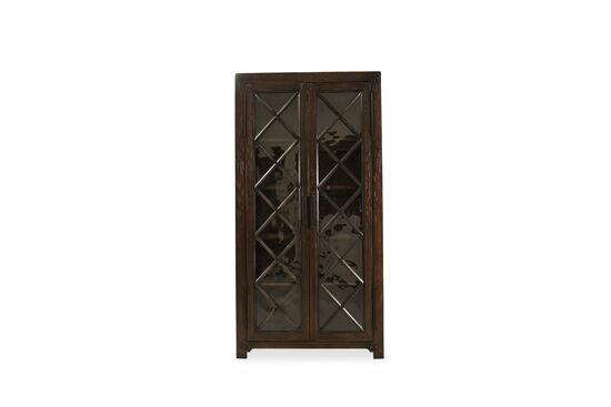 Casual Bunching Display Cabinetin Dark Walnut