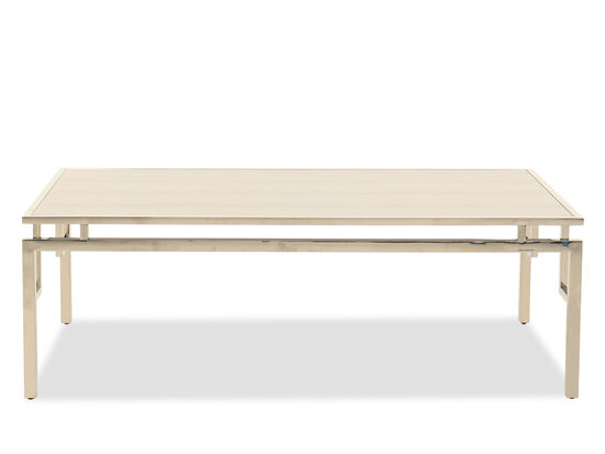 Contemporary Rectangular Cocktail Table in Gold