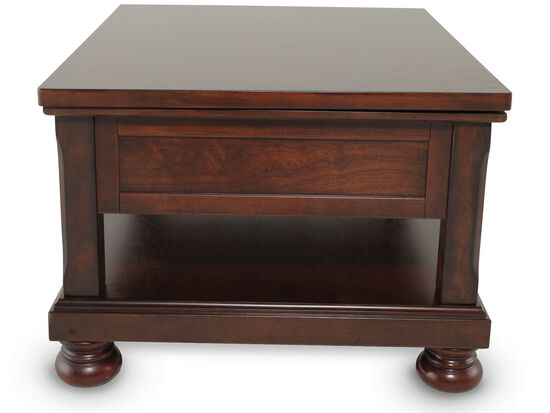 Lift-Top Traditional Cocktail Tablein Brown Cherry