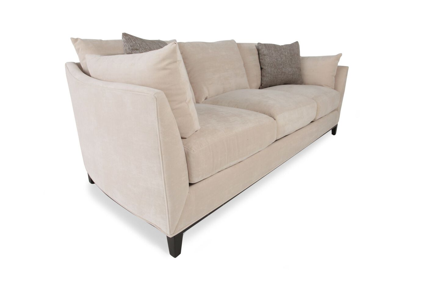 Handcrafted Low Profile 94 Quot Sofa In Caf 233 Au Lait Mathis