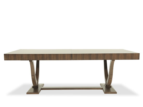"Transitional 46"" Arch Trestle Dining Table in Dark Brown"