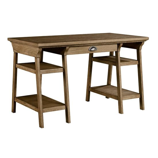 Double Pedestal Casual Youth Desk in Sunflower Seed
