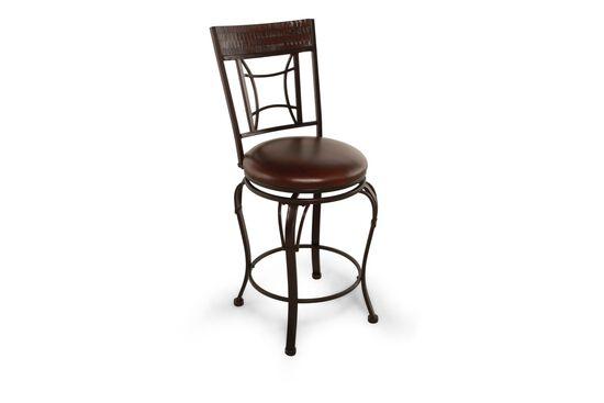 "Traditional 42"" Swivel Bar Stool in Dark Chestnut"