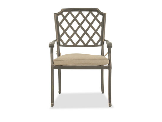 Lattice-Back Casual Dining Chair in Bronze