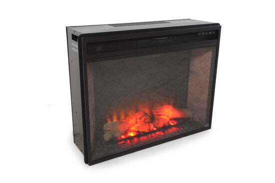 """24"""" Remote Controlled Contemporary Infrared Fireplace in Warm Brown"""