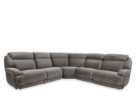 Five-Piece Power Headrest Sectional in Gray