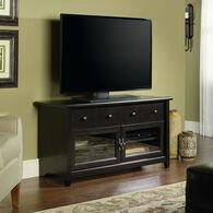 MB Home Lake Wood Estate Black Panel TV Stand