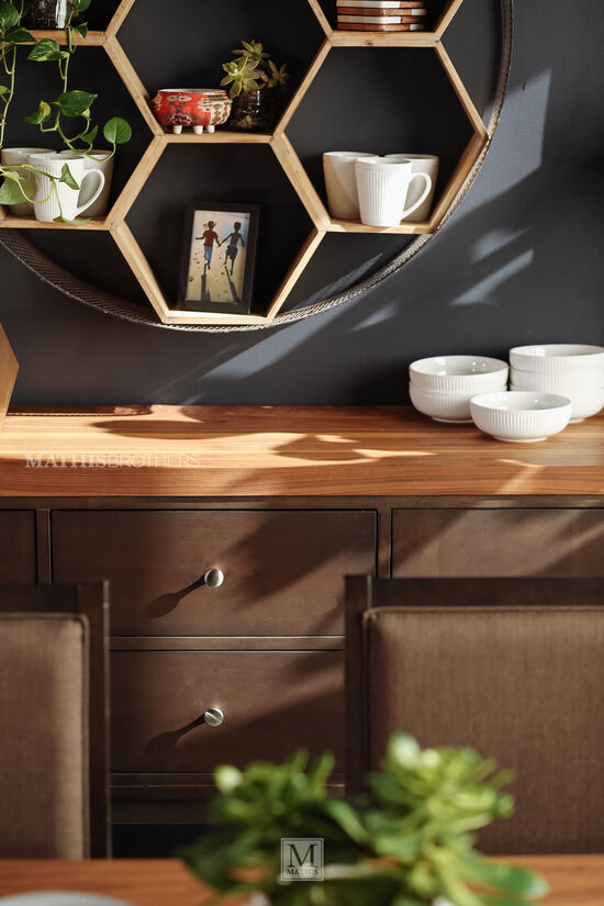 """Contemporary 53.5"""" Sideboard in Brown"""