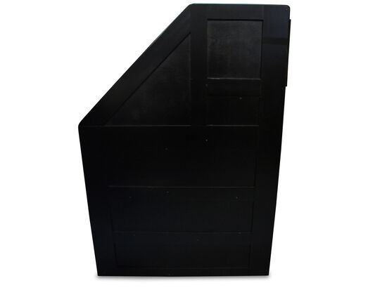 Four-Drawer Transitional Stairway Chest in Black Cherry