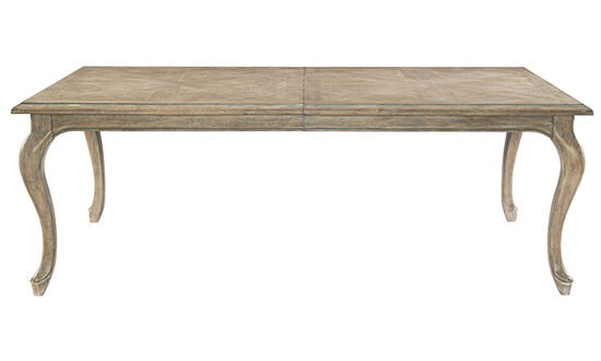 "Refined Romantic Luxury 46"" Rectangular Dining Table in Sand"