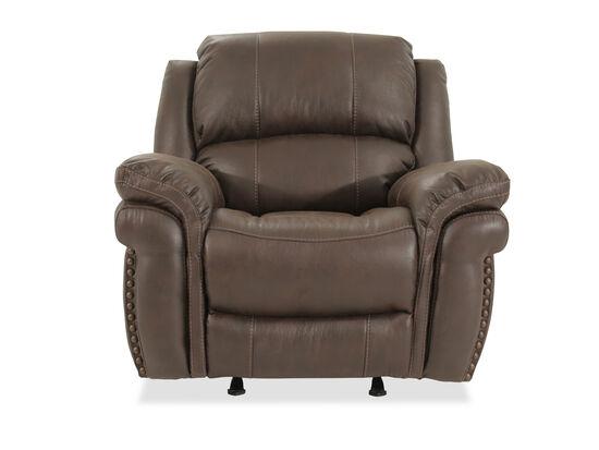 Bucket Seat Contemporary 43'' Rocker Reclinerin Brown