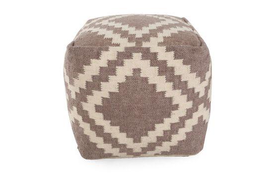 Textured Geometric Ottoman in Cream