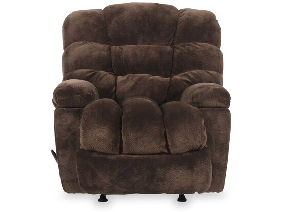 "Casual 43"" Wall Saver Recliner with Storage Arm in Chocolate"