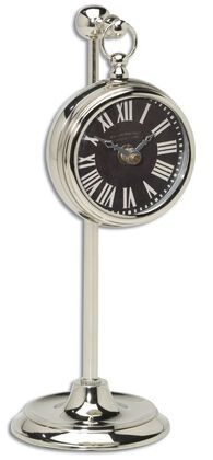 Roman Numeral Pocket Watch Replica with Telescopic Stand in Black