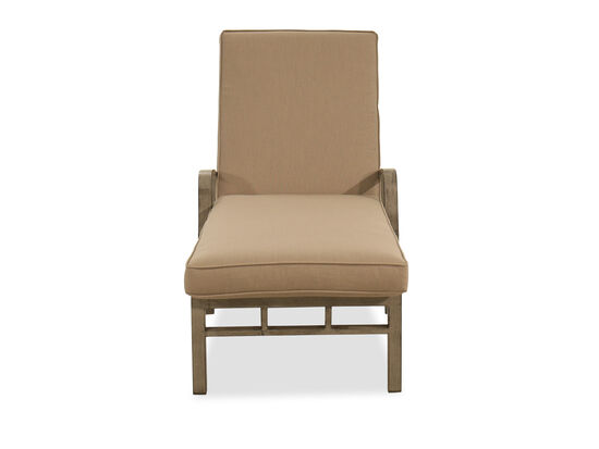 Casual Aluminum Chaise Lounge in Brown