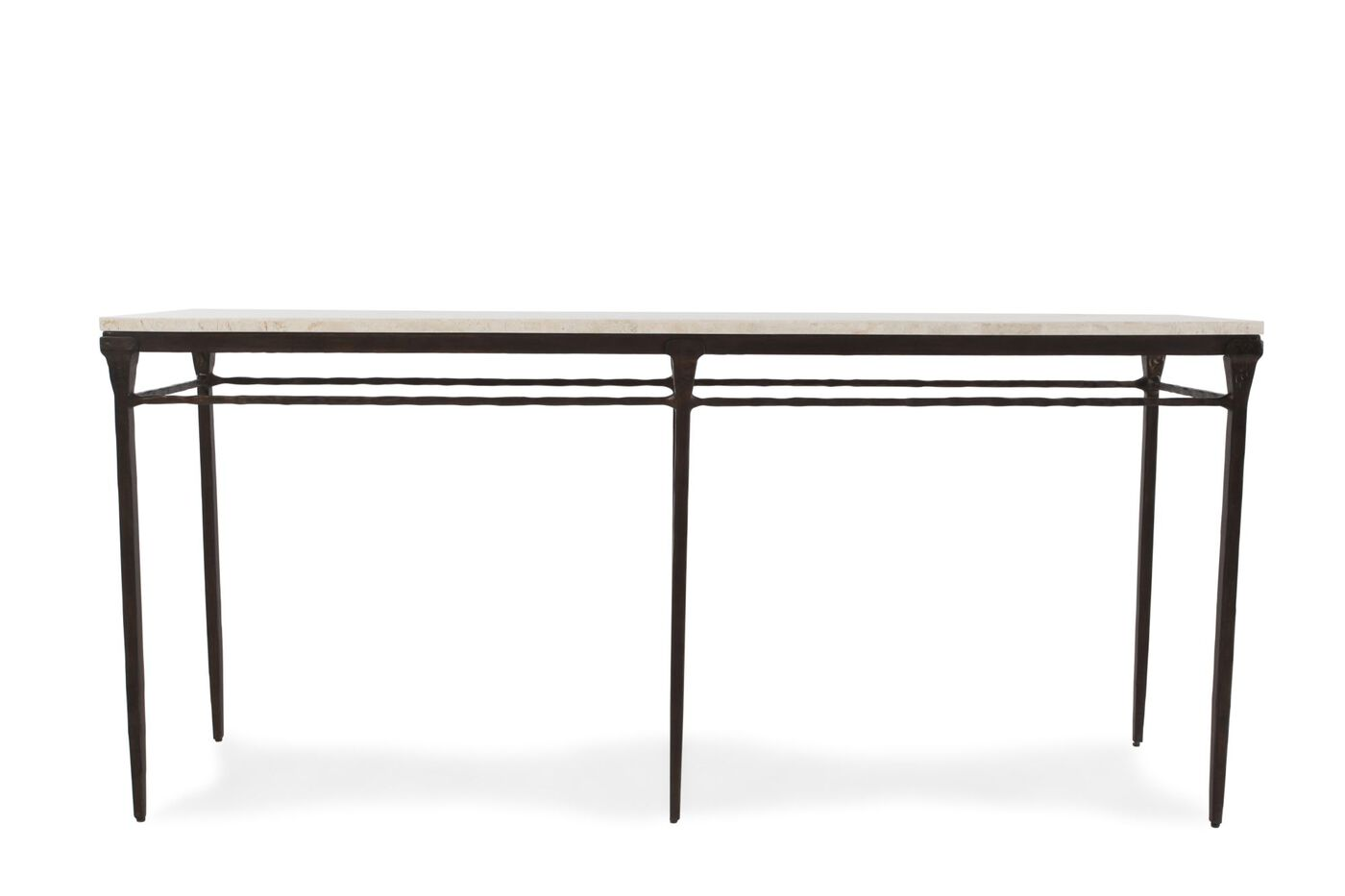 Four Way Stretcher Contemporary Sofa Table In Bronze