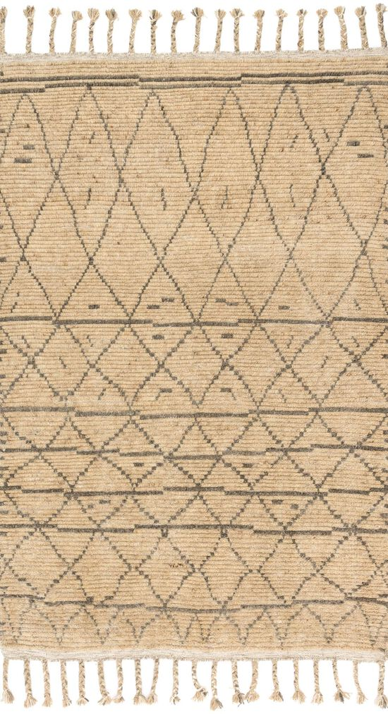 """Transitional 1'-6""""x1'-6"""" Square Rug in Natural/Grey"""