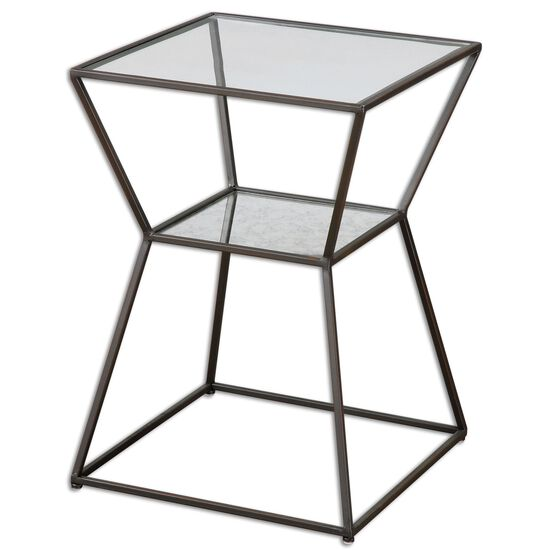Gallery Shelf Accent Table in Black