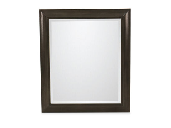 "38"" Casual Beveled Mirror in Black"