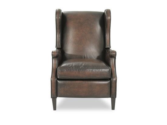 "Leather 29"" Pressback Reclinerin Brown"
