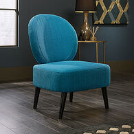 MB Home Haute Maya Pacific Blue Accent Chair