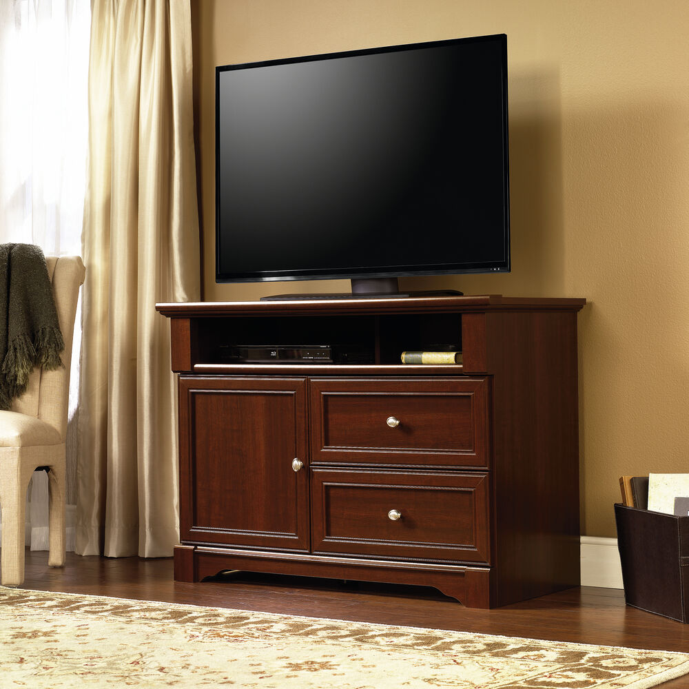 Traditional Rectangular Tv Stand In Cherry Mathis