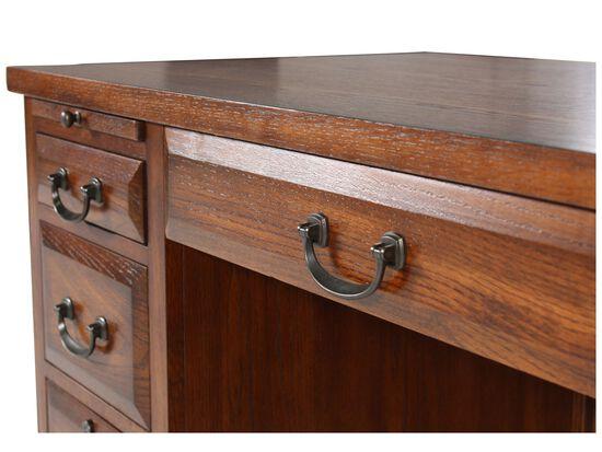 "57"" Seven-Drawer Country Computer Desk in Oak"