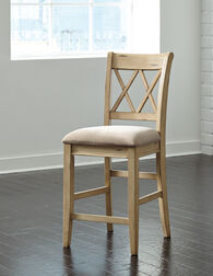 "Casual 40.5""Armless Bar Stool in Antique White"