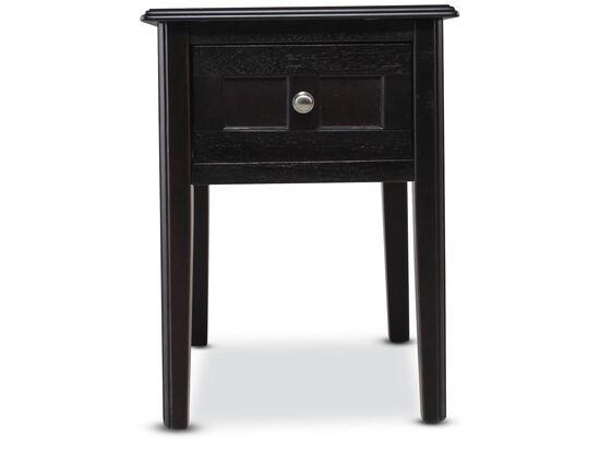 Rectangular Contemporary End Tablein Black