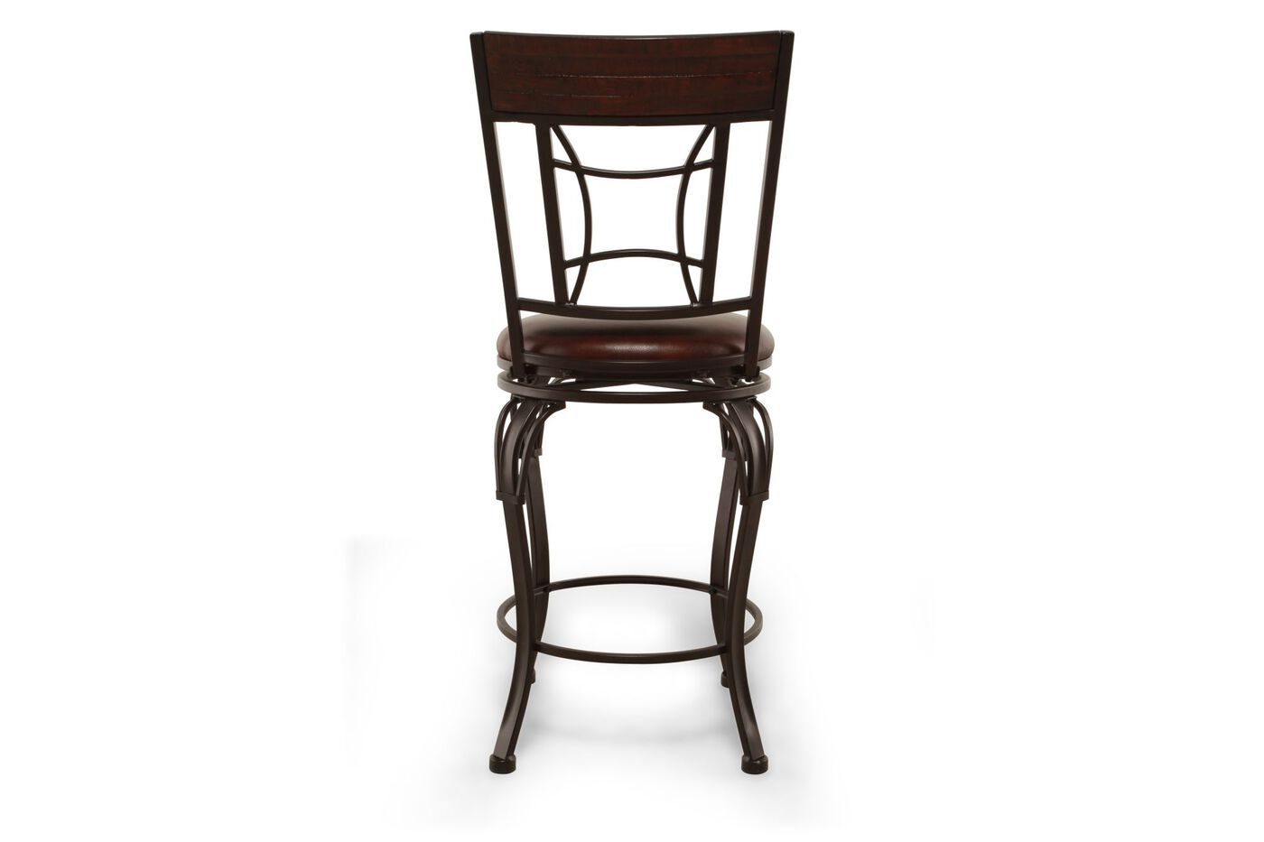 Traditional 42 Quot Swivel Bar Stool In Dark Chestnut Mathis