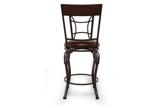 Traditional 42 Quot Swivel Bar Stool In Dark Chestnut Mathis