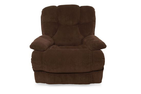 "Traditional 40"" Rocker Recliner in Chocolate"
