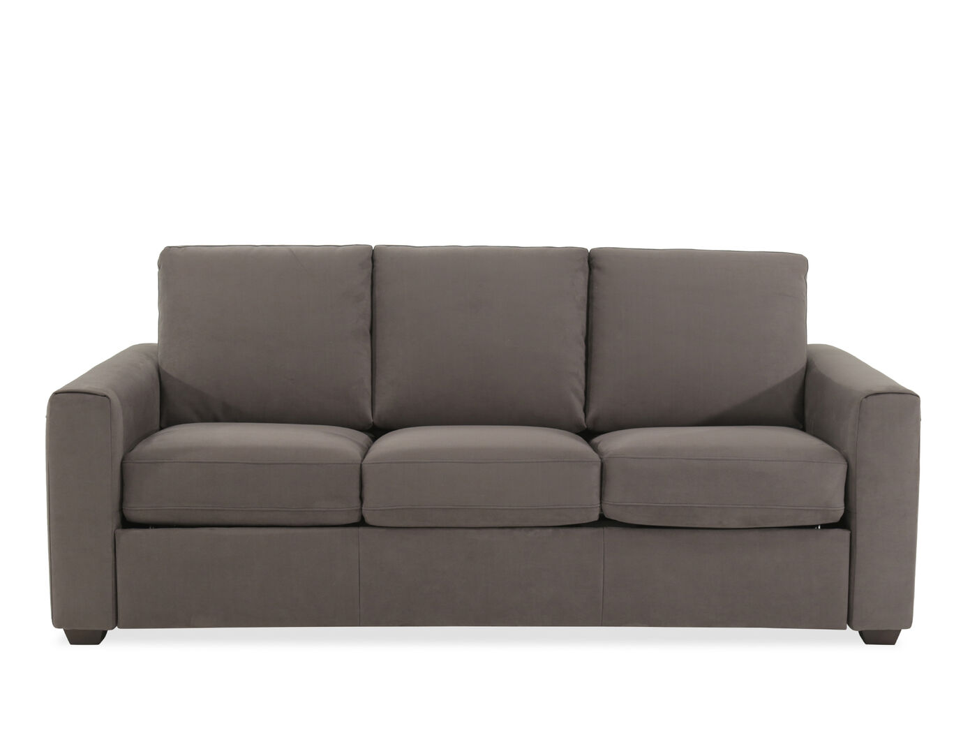 Casual 82 Queen Sleeper Sofa In Gray Mathis Brothers Furniture ~ Leather Sleeper Sofa Queen