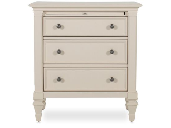 "32"" Traditional Nightstand in Light White"