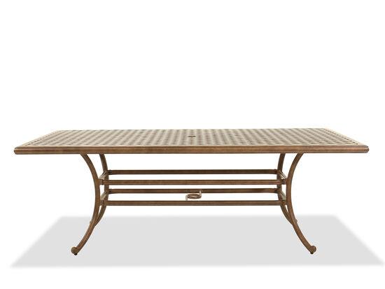 Rectangular Aluminum Dining Table in Brown