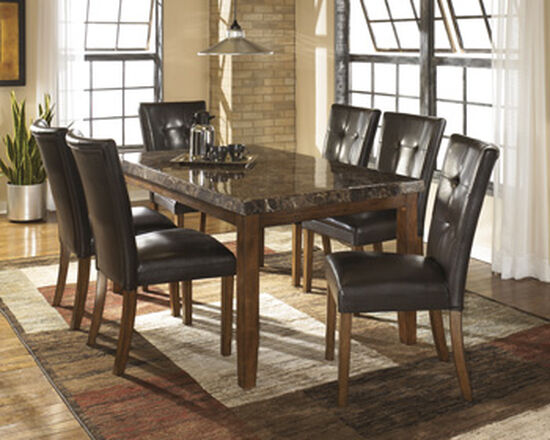 Button-Tufted 38.5'' Dining Side Chair in Brown