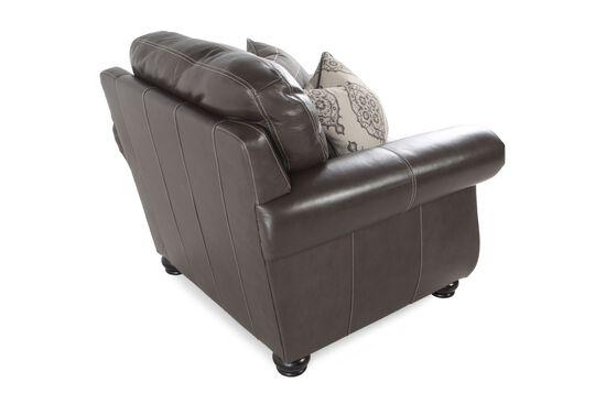 "Nailhead-Trimmed Contemporary 41"" Chair in Dark Brown"