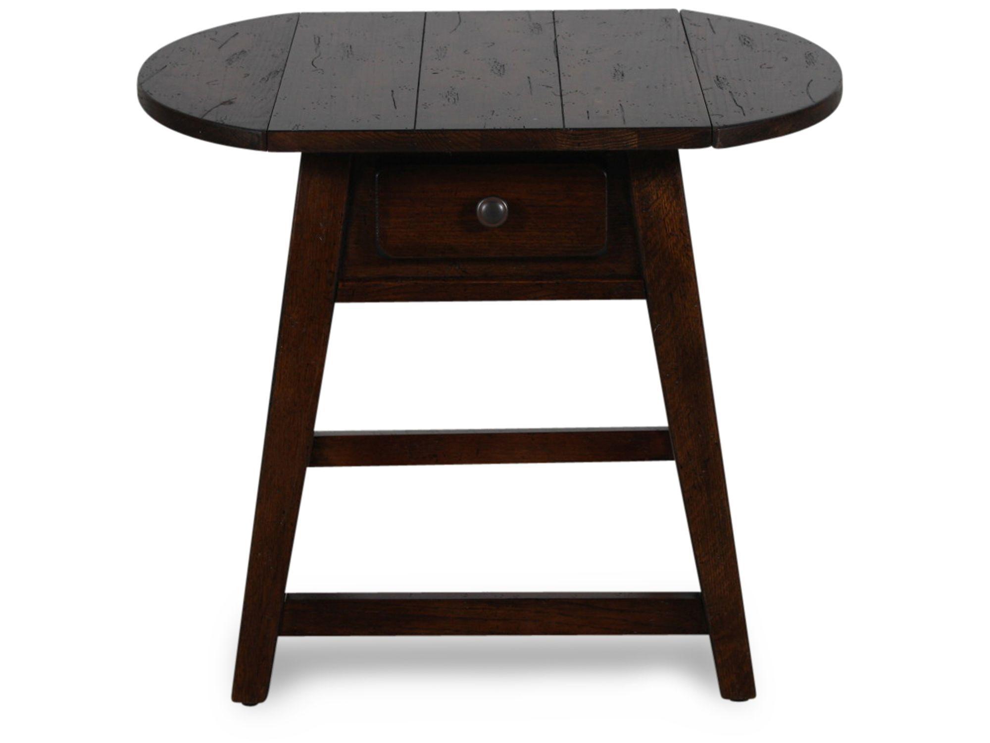 broyhill attic heirlooms rustic splay leg end table