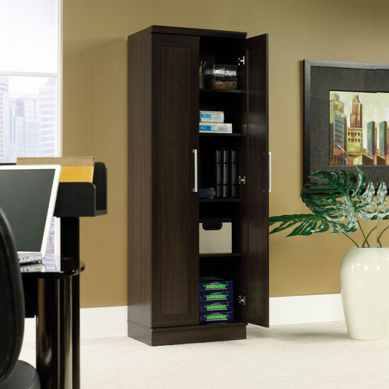 Two-Door Contemporary Storage Cabinet in Dakota Oak