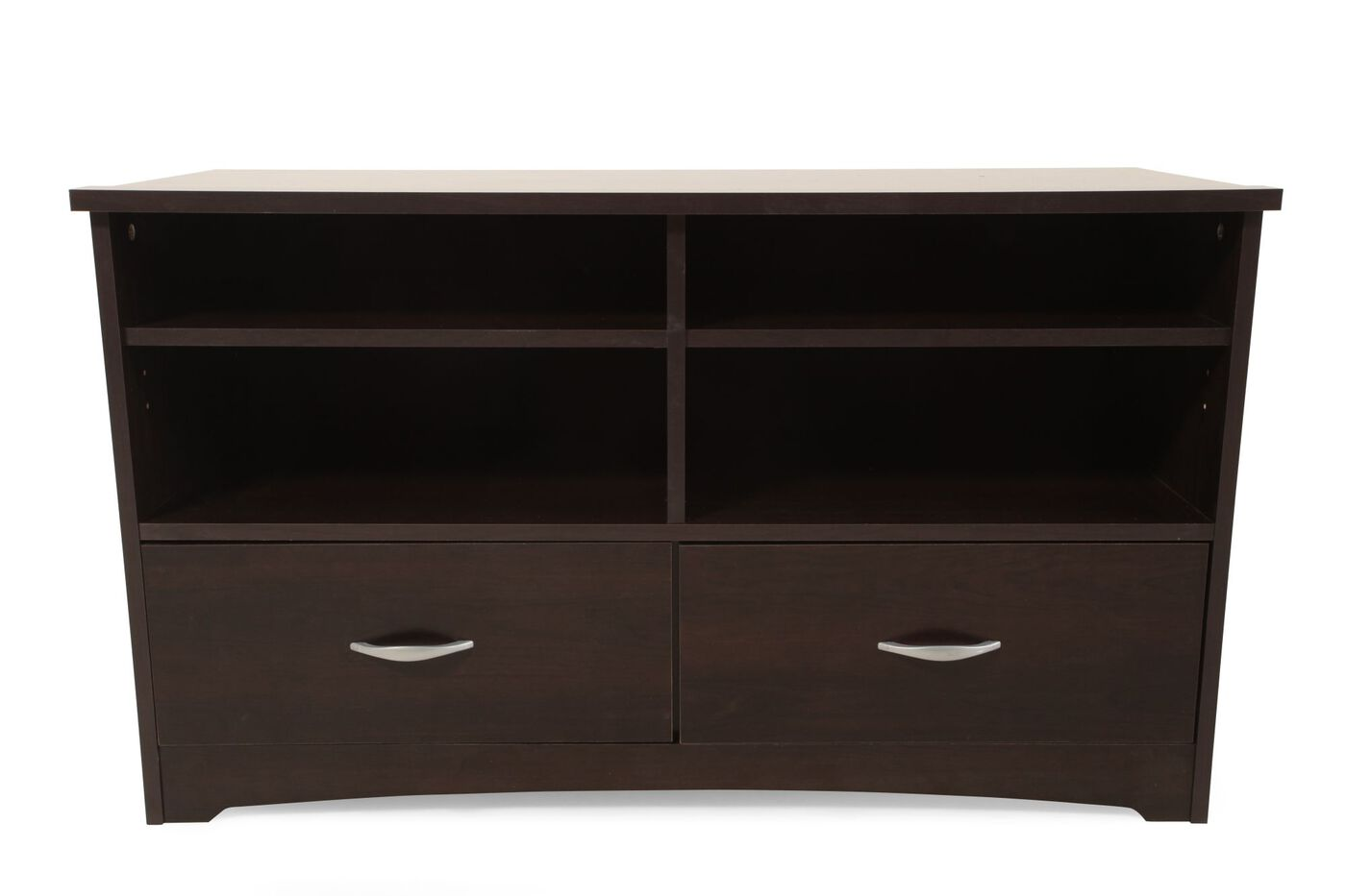 Two Drawer Contemporary Tv Stand In Cinnamon Cherry