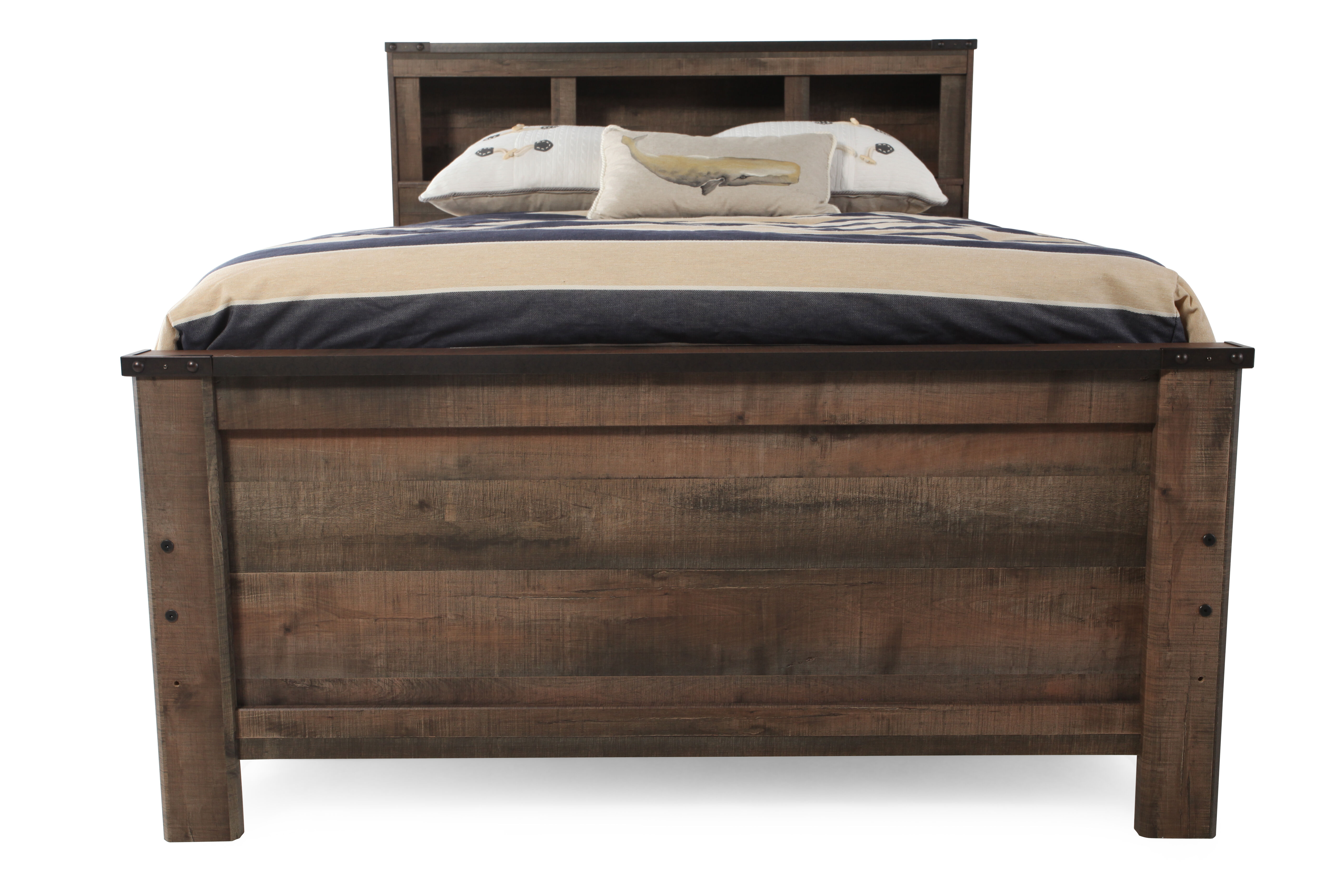 Images Rustic Farmhouse Planked Youth Bookcase Bed In Brownu0026nbsp; Rustic  Farmhouse Planked Youth Bookcase Bed In Brownu0026nbsp;