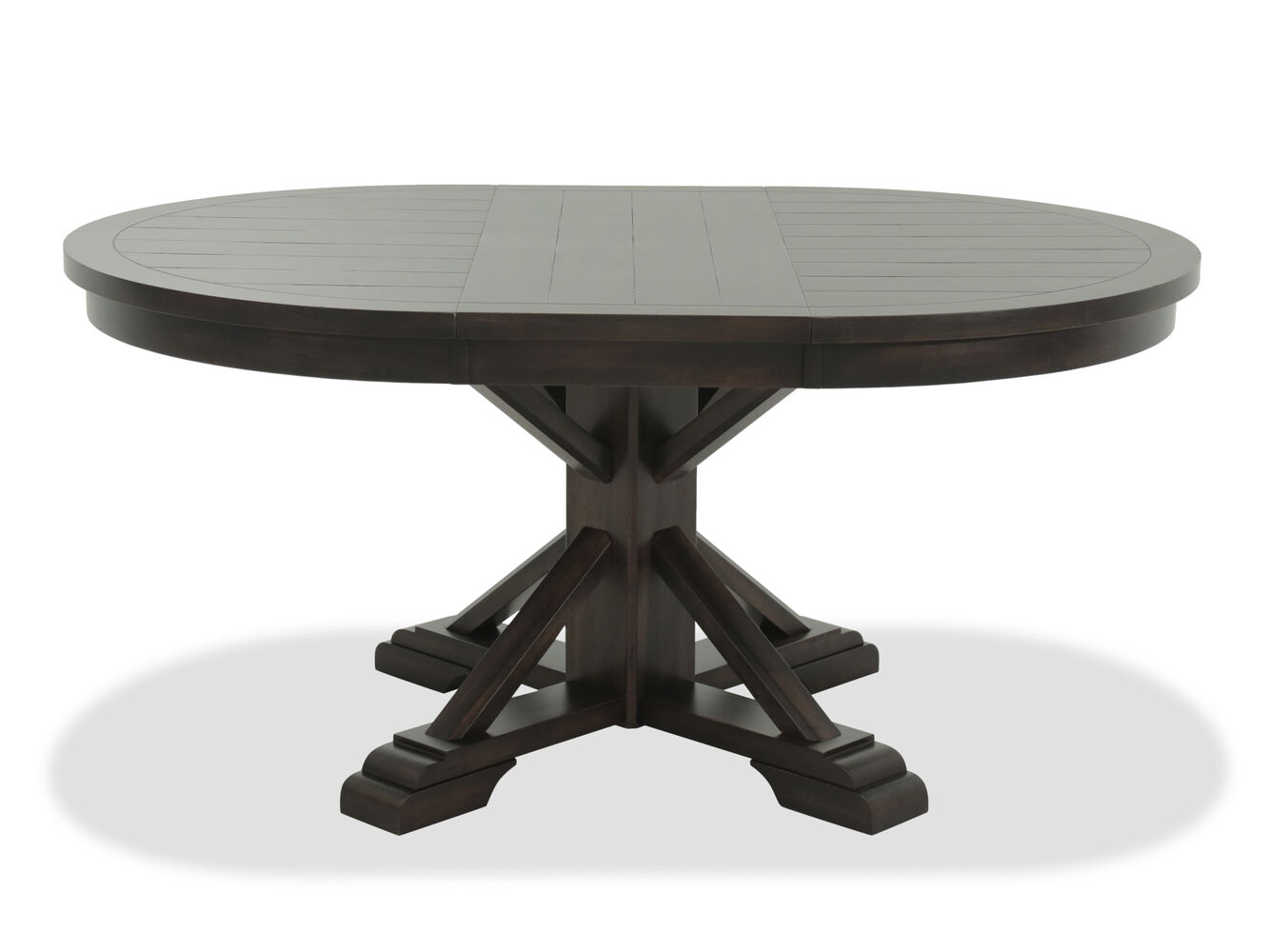 Casual Oval Pedestal Dining Table In Earthy Brown Mathis