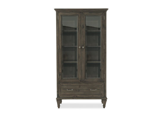 Two-Door Formal Bookcase in Dark Gray