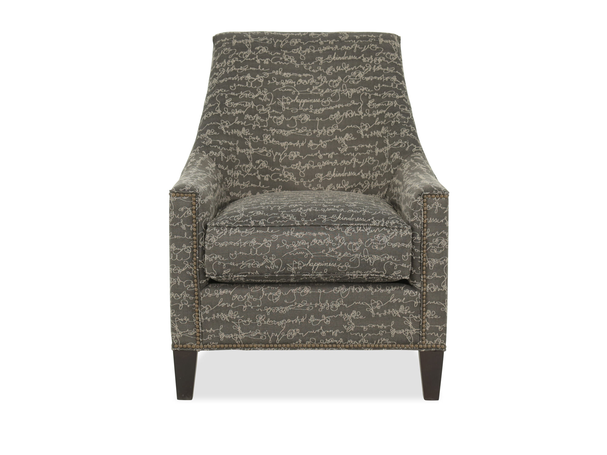 Images Nailhead Trimmed Mid Century Modern 30u0026quot; Chair In Gray Nailhead  Trimmed Mid Century Modern 30u0026quot; Chair In Gray