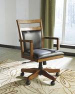 Swivel Desk Chairin Butcher-Block Stain