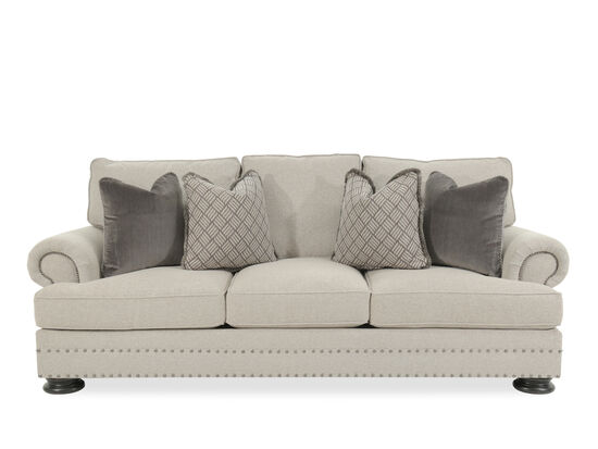 """Casual Rolled Arm 98"""" Sofa in Gray"""